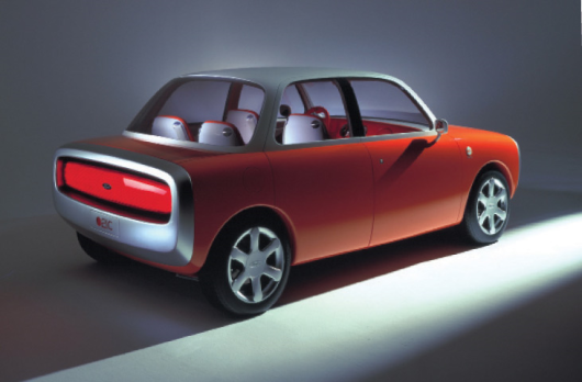 Australian designer Marc Newson's vision of a car. Many common use items are now product of collaboration between designers and production companies.