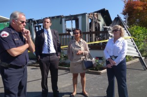 Napa Fire Chief John Callanan, SF Chief Resilience Officer Patrick Otellini, SF City Administrator Naomi Kelly and SF Department of Emergency Management Director Anne Kronenberg