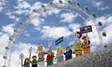 As well as Lego fans, Greenpeace wanted to engage other audiences that share a lot online. Photograph: Greenpeace