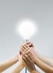 hands-light-bulb
