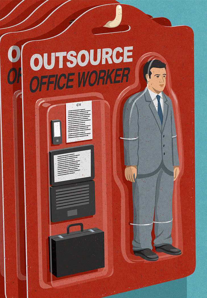 Collaboration may help everyone to reinvent themselves to avoid looking like satirical version of future as seen by British illustrator John Holcroft.