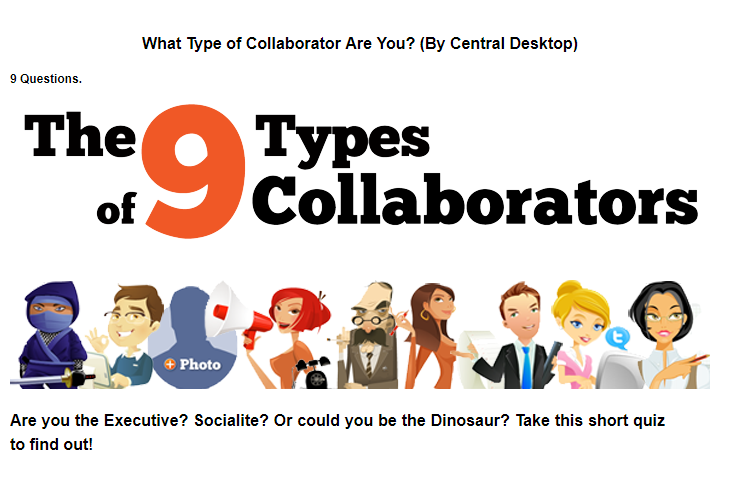 Source: http://cdblog.centraldesktop.com/2011/11/quiz-what-type-of-collaborator-are-you/