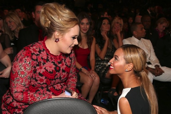 Adele and Beyoncé at Grammy's Image source: http://cdn.urbanislandz.com/wp-content/uploads/2013/02/Adele-and-Beyonce-Grammys.jpg